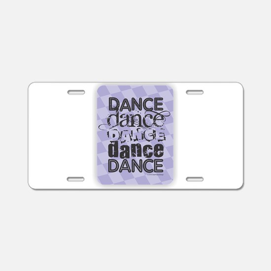Dance Purple Aluminum License Plate