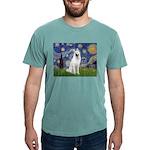 Starry-White German Shepherd Mens Comfort Colors S