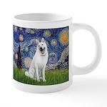 Starry-White German Shepherd 20 oz Ceramic Mega Mu