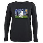 Starry-White German Shepherd Plus Size Long Sleeve