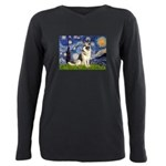 MP-STARRY--GSehp9 Plus Size Long Sleeve Tee