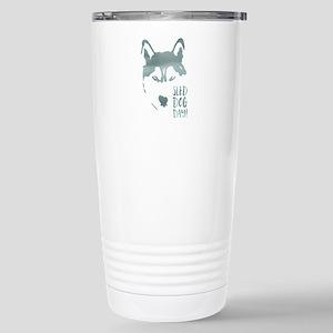sled dog day Travel Mug