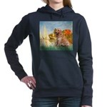 MP-Sailbts2-Golden1 Women's Hooded Sweatshirt