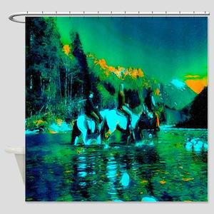 Moonlight Crossing (landscape) Shower Curtain