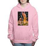 5.5x7.5-MidEve-GoldBanj Women's Hooded Sweatsh