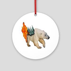 FIRE Round Ornament