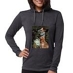 CLK-OPH2-GoldBanj1 Womens Hooded Shirt