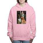 CLK-OPH2-GoldBanj1 Women's Hooded Sweatshirt