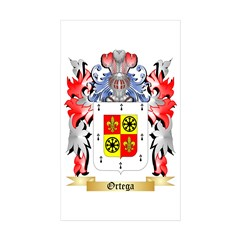 Ortega Sticker (Rectangle 50 pk)