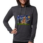 5.5x7.5-Starry-GoldBanj2 Womens Hooded Shirt