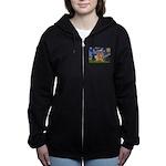 5.5x7.5-Starry-GoldBanj2 Women's Zip Hoodie