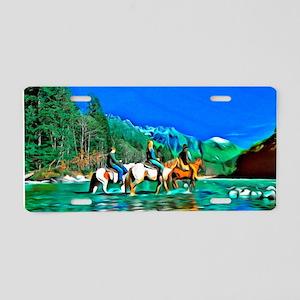 River Crossing (landscape) Aluminum License Plate