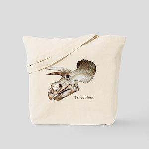 Triceratops Skull Tote Bag