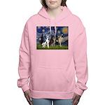 5.5x7.5-Starry-GDaneQUAD Women's Hooded Sweats