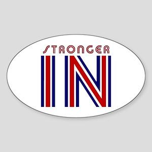 Stronger IN!! Sticker (Oval)
