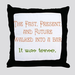 Tense Throw Pillow