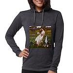 WINDFLOWERS-GSMD1 Womens Hooded Shirt