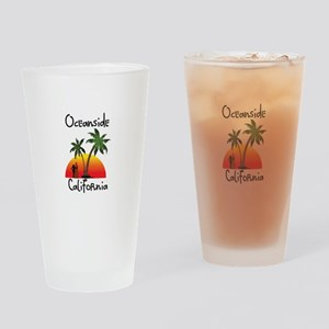 Oceanside California Drinking Glass