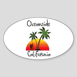 Oceanside California Sticker