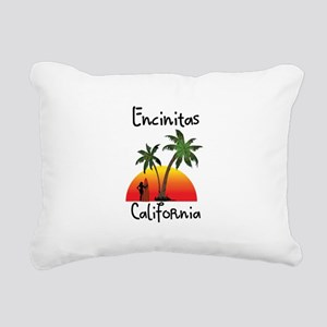 Encinitas California Rectangular Canvas Pillow