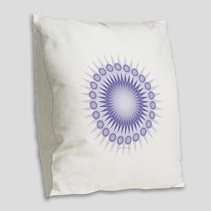Purple Sun Burlap Throw Pillow