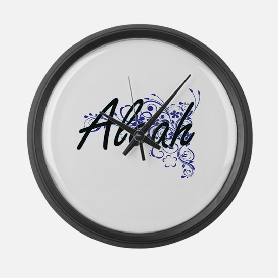 Aleah Artistic Name Design with F Large Wall Clock