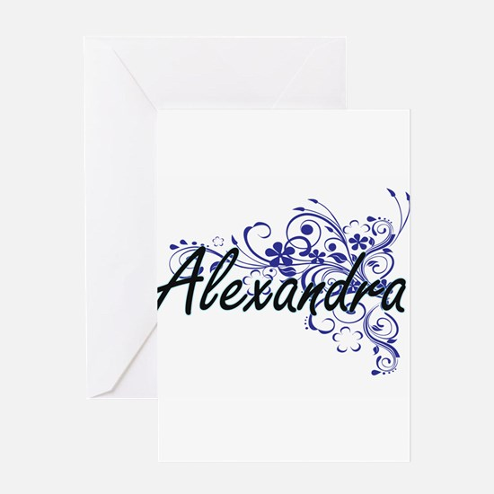 Alexandra Artistic Name Design with Greeting Cards