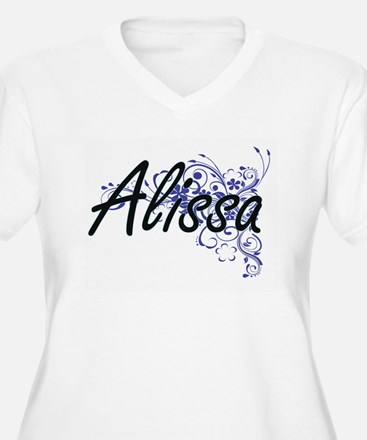 Alissa Artistic Name Design with Plus Size T-Shirt