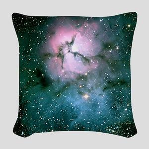 Trifid Nebula Woven Throw Pillow