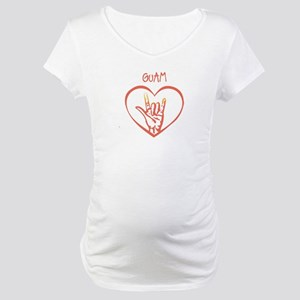 GUAM (hand sign) Maternity T-Shirt