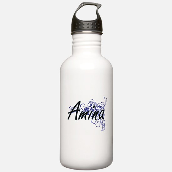 Amina Artistic Name De Water Bottle