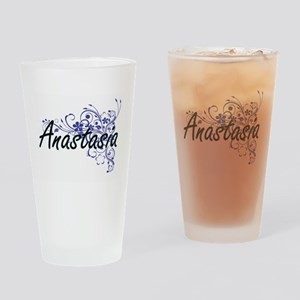 Anastasia Artistic Name Design with Drinking Glass