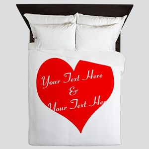 Personalize It - Customize 2 Lines Of Queen Duvet