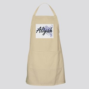 Aliyah Artistic Name Design with Flowers Apron