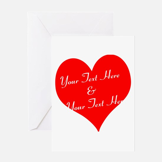 Personalize It - Customize 2 Lines Greeting Cards