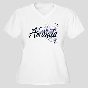 Amanda Artistic Name Design with Plus Size T-Shirt