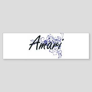 Amari Artistic Name Design with Flo Bumper Sticker
