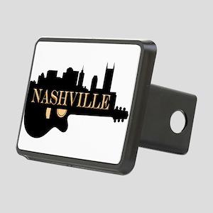 Nashville Guitar Skyline Rectangular Hitch Cover