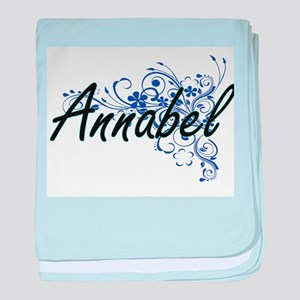 Annabel Artistic Name Design with Flo baby blanket