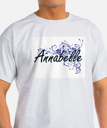 Annabelle Artistic Name Design with Flower T-Shirt