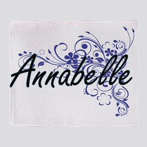 Annabelle Artistic Name Design with Throw Blanket