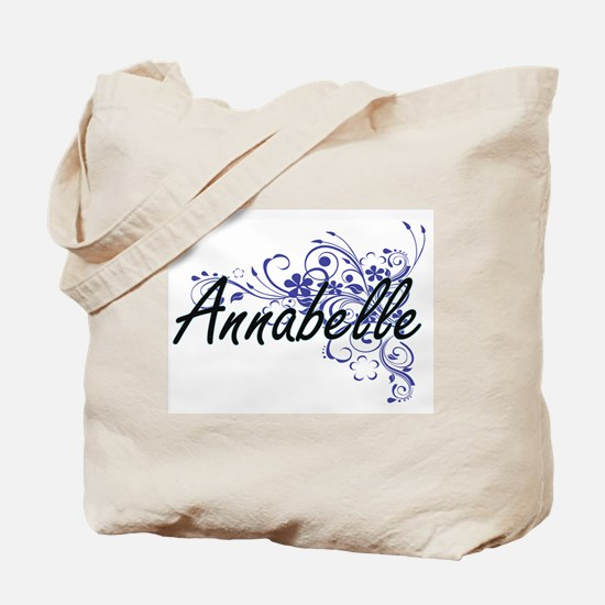 Annabelle Artistic Name Design with Flowe Tote Bag