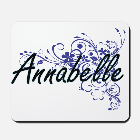 Annabelle Artistic Name Design with Flow Mousepad
