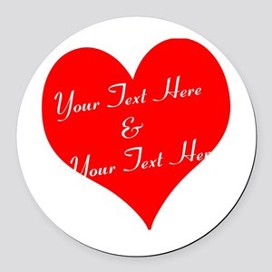 Personalize It - Customize 2 Round Car Magnet