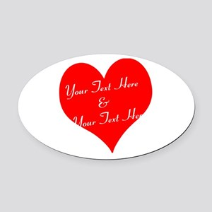 Personalize It - Customize 2 Lines Oval Car Magnet