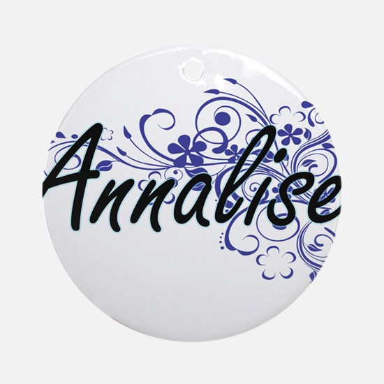 Annalise Artistic Name Design with Round Ornament