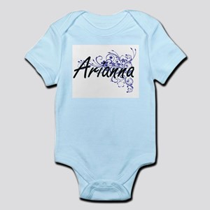 Arianna Artistic Name Design with Flower Body Suit