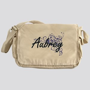 Aubrey Artistic Name Design with Flo Messenger Bag