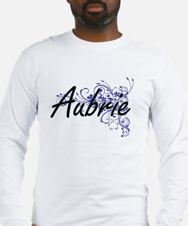 Aubrie Artistic Name Design wi Long Sleeve T-Shirt