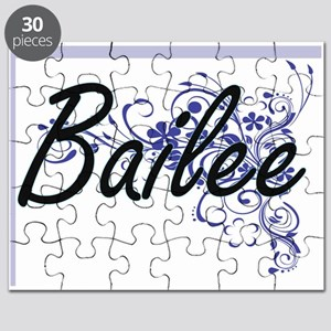 Bailee Artistic Name Design with Flowers Puzzle